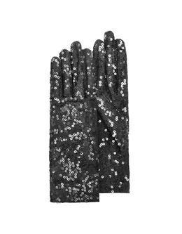 Черные Женские Перчатки с Пайетками Forzieri GPA01 NERO