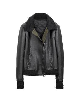 Черная Женская Кожаная Куртка Forzieri 70146 P4993 001 NERO 44