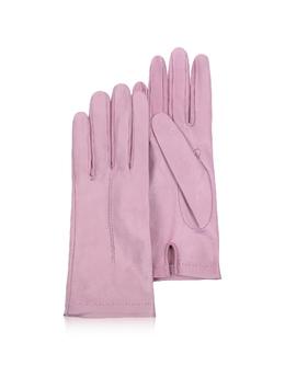 Итальянские Светло-розовые Кожаные Женские Перчатки без Подкладки Forzieri 1223 R