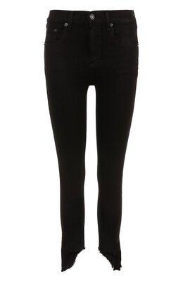 Укороченные однотонные джинсы-скинни Rag&Bone W1566K502BLH