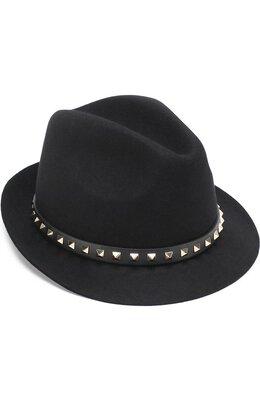 Шляпа из ангоры Valentino Garavani с кожаным ремешком и заклепками Valentino NW2H0005/TLS