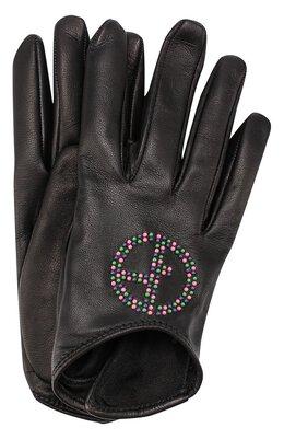 Кожаные перчатки с декоративной отделкой Giorgio Armani 794210/7A209