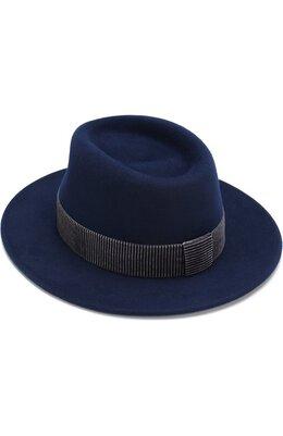 Фетровая шляпа Thadee с лентой Maison Michel 1025027001/THADEE