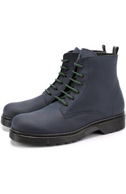 Кожаные ботинки на шнуровке с молнией Il Gufo G389/SAHARA S0FT/35-40