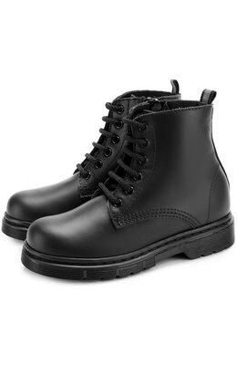 Кожаные ботинки на шнуровке с молнией Il Gufo G389/LEATHER CLAMAR/31-34