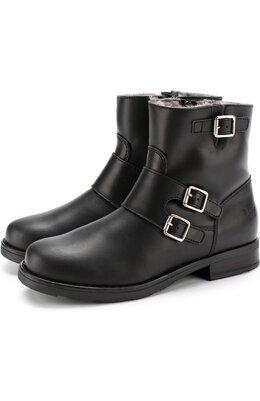 Кожаные ботинки с пряжками Il Gufo G455/LEATHER CLAMAR/31-34