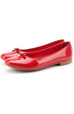 Лаковые балетки с бантами Dolce & Gabbana 0132/D10341/A1328/37-39