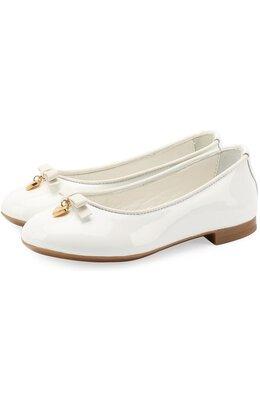 Лаковые балетки с бантами Dolce & Gabbana 0132/D10341/A1328/19-28
