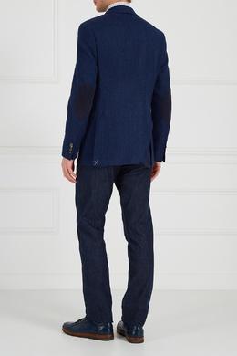Синий шерстяной пиджак Canali 179365672