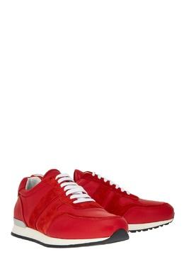 Красные кожаные кроссовки Canali 179365714
