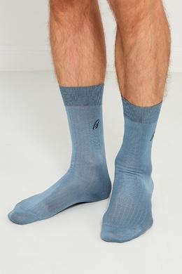 Голубые носки из хлопка Brioni 167071940