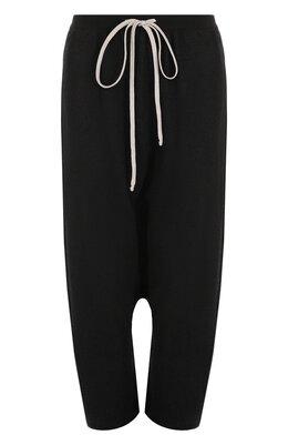 Кашемировые брюки с заниженной линией шага Rick Owens RP18S8616/WSB