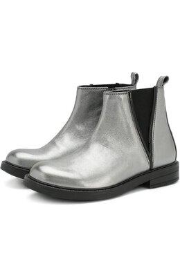 Ботинки из металлизированной кожи с эластичной вставкой Lanvin 4HA506/HX770/28-35