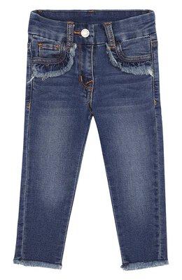 Зауженные джинсы с пайетками Monnalisa 191405R4