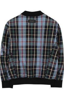 Хлопковая куртка-бомбер с принтом Burberry 4063393