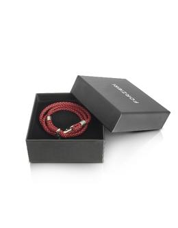 Красный и Черный Тройной Браслет Веревка с Якорем Forzieri ENT222 RED