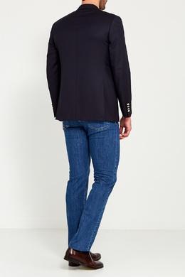Черный шерстяной пиджак Canali 179374098
