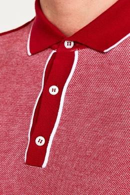 Красный хлопковый джемпер-поло Canali 179374101