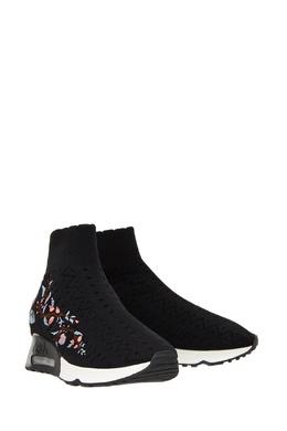 Текстильные кроссовки с вышивкой Ash 672352