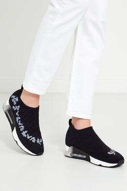 Тканевые кроссовки с вышивкой Lolita Ash 677664