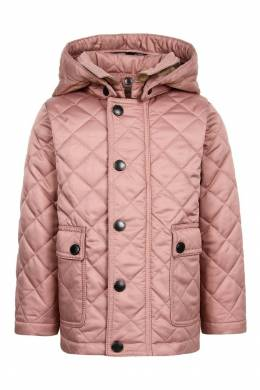 Удлиненная стеганая куртка Burberry Kids 125379360