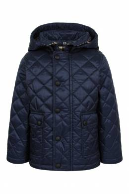 Синяя стеганая куртка Burberry Kids 125379353