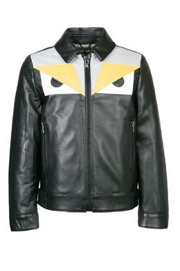 Кожаная куртка Fendi Kids 69032857