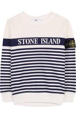 Хлопковый свитшот в полоску Stone Island 681663443/6-8