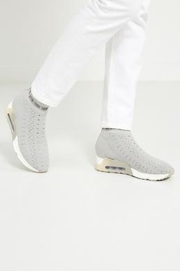 Серые текстильные кроссовки Link Ash 679743