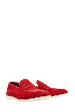 Красные замшевые туфли Canali 179387050