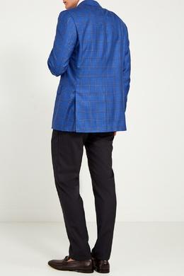 Голубой пиджак в клетку Canali 179387027