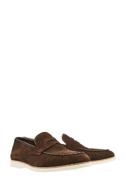 Коричневые замшевые туфли Canali 179387048
