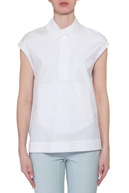 Белая блузка с карманами Agnona 254092286