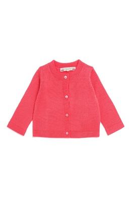 Розовый шерстяной кардиган Bonpoint 121090541