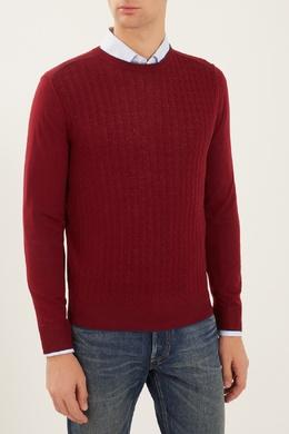 Бордовый джемпер с окантовкой Canali 179393698