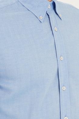 Базовая голубая рубашка из хлопка Canali 179393715