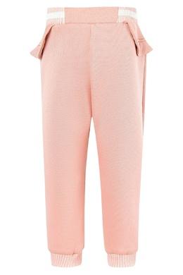 Розовые брюки с оборкой Fendi Kids 69094890