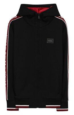 Хлопковый кардиган на молнии с капюшоном Dolce & Gabbana L4JW4D/G70XR/8-14