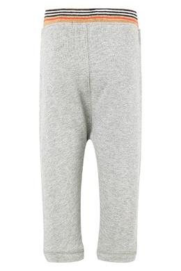 Детские брюки с контрастным поясом Burberry Kids 125395322