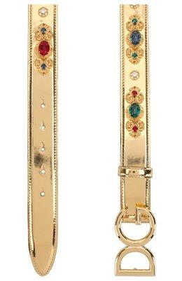 Ремень из металлизированной кожи с отделкой кристаллами Dolce & Gabbana BE1328/AZ108