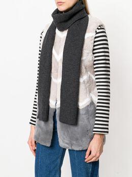 N.peal шарф объемной ребристой вязки NPA243