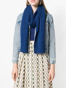 N.peal wide cable scarf NPA105C