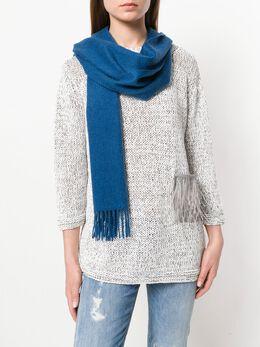 N.peal широкий шарф тканого дизайна NPA033B