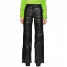 Off-White Black Croc Leather Wide Pants OWJB001F184300531000