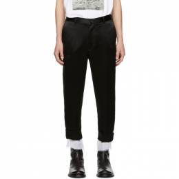 Ann Demeulemeester Black Dropped Inseam Trousers 1802-3414-166-098