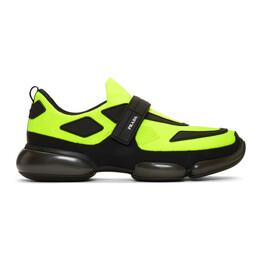 Prada Yellow and Black Cloudbust Sneakers 2OG064 2OBZ