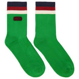 Gucci Green Logo Socks 182451M22001001GB