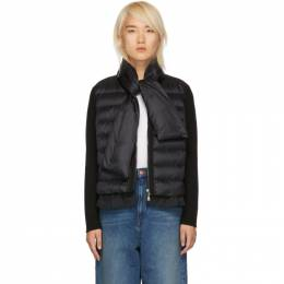 Moncler Black Knit and Down Scarf Jacket 182111F06300903GB