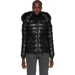Moncler Black Down and Fur Bady Jacket 182111F06101602GB