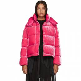 Moncler Pink Velvet Caille Down Jacket 182111F06100304GB